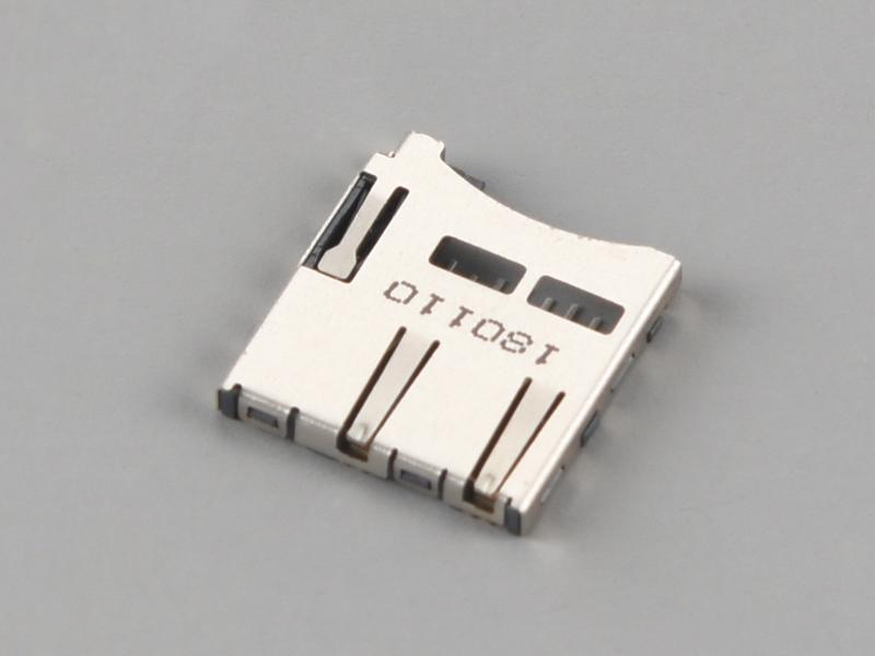 KLS1-TF-001 PUSH-PULL H1.85mm Normally Closed Micro SD Card Connector