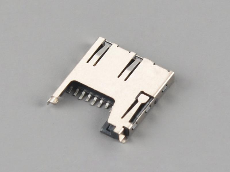 KLS1-TF-001B PUSH-PULL H1.85mm Normally Closed Micro SD Card Connector