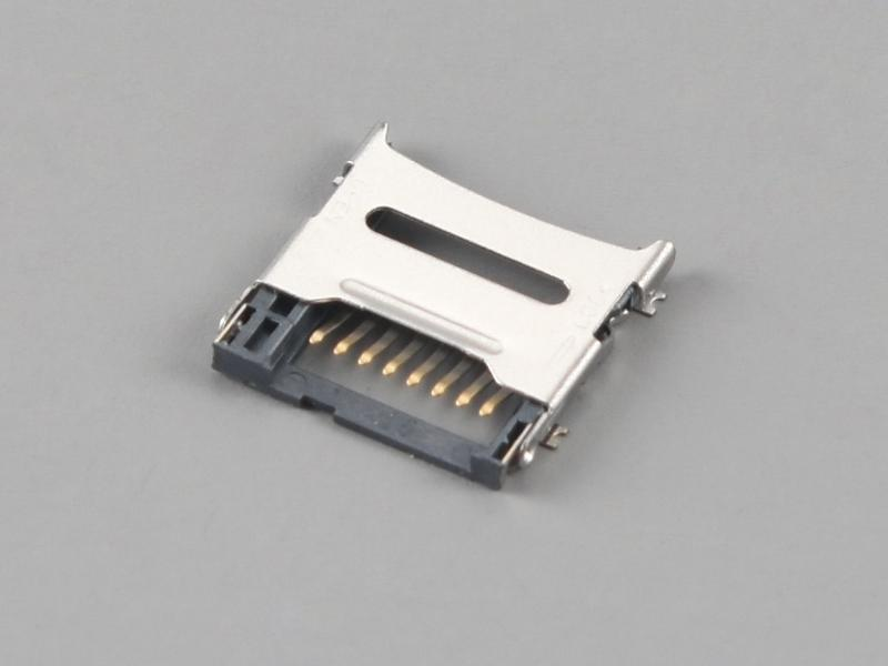 KLS1-TF-007 H1.5mm Hinged Type Micro SD Card Connector