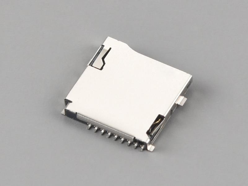 KLS1-TF-003 Push-Push H1.85mm With CD Pin Micro SD Card Connector