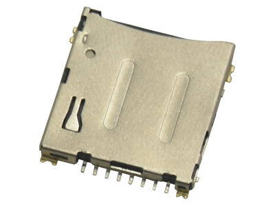 KLS1-SD111-R Push H1.5mm 8P Micro SD Card Connector