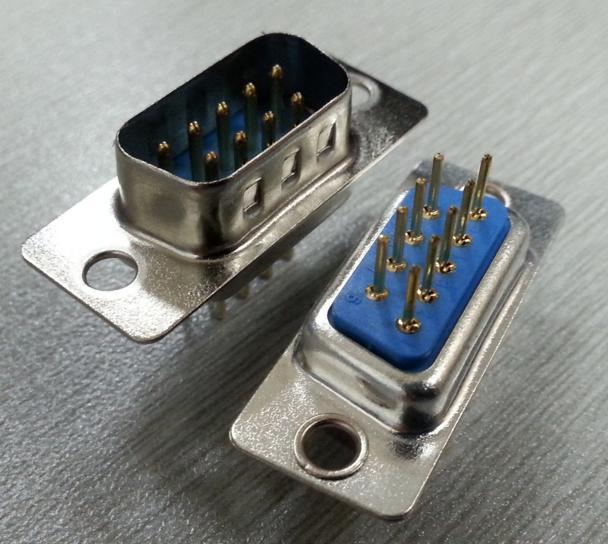 KLS1-221  DP 2 Row PCB Dip Type D-Sub Connector 9 15 25 37 50 pin male female