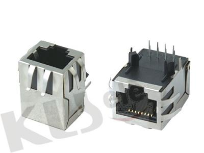 KLS12-TL001 RJ45 Modular Jack with Transformer (Right PCB Mount)