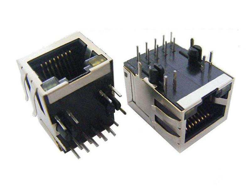 KLS12-TL002B 10/100 BASE 1x1 Tab-Down RJ45