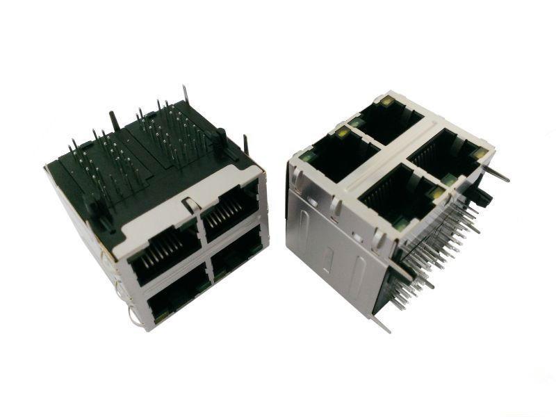 KLS12-TL056 10/100 BASE-LED 2x2 Tab-Down RJ45