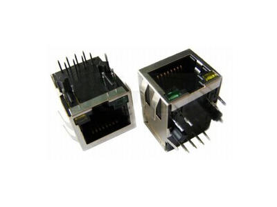 KLS12-TL058 1x1Fast RJ45 Connector with Transformer and LEDs