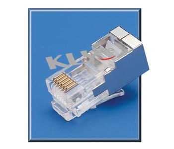 KLS12-RJ12B-6P Modular Plug Shield RJ11/RJ12/RJ14/RJ25
