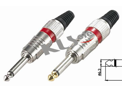 KLS1-PLG-009   6.3mm Mono Audio Plug