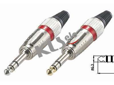 KLS1-PLG-009A  6.3mm Stereo Audio Plug