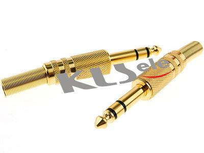 KLS1-PLG-002A   2.5mm Stereo Audio Plug & 3.5mm Stereo Audio Plug & 6.3mm Stereo Audio Plug