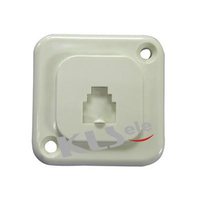 KLS12-009-6P4C / KLS12-009-6P6C Flush Mount Phone Jack