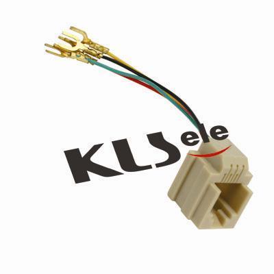 KLS12-201-6P4C KLS12-201-6P2C Wired Modular Jack 623K Ivory