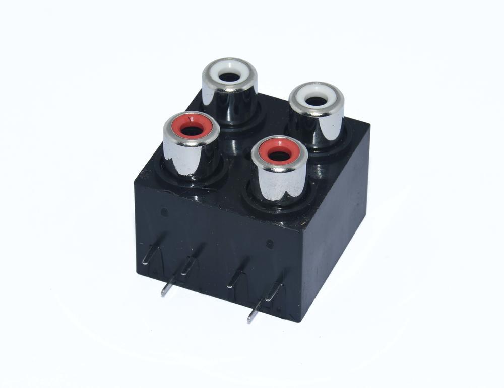 KLS1-RCA-411     RCA  Audio Jack Connector 2x2