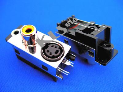 KLS1-RCA-205     RCA Jack + Mini din Audio jack