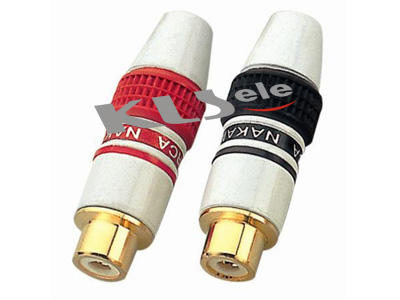 KLS1-RCA-PF05   Gold RCA Phono Audio Socket