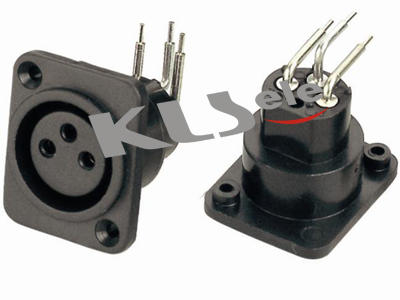 KLS1-XLR-S02   XLR  Audio Socket Connector
