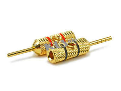 KLS1-BAP-019   Banana  Audio plug gold