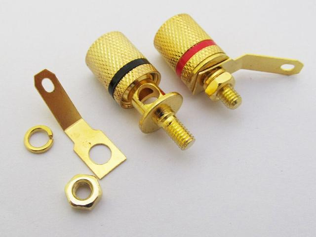 KLS1-BIP-011   M4x26mm;Binding Post Connector, Gold Plated