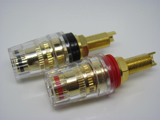 KLS1-BIP-030   M8x54mm,Binding Post Connector,Gold Plated