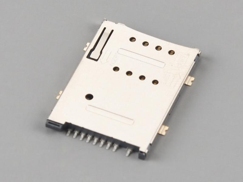 KLS1-SIM-074A PUSH PUSH 6P H1.85mm with CD Pin SIM Card Connector