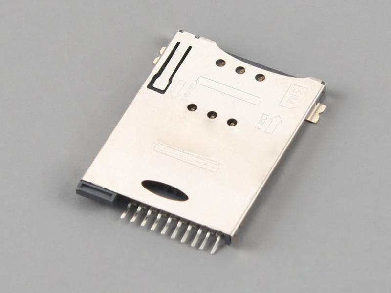 KLS1-SIM-085 PUSH PUSH 8P H1.85mm with CD Pin SIM Card Connector