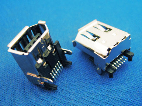 KLS1-1394-6FB IEEE 1394 Connector 6P female SMD