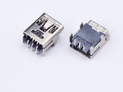 KLS1-229-5FA 5P B type R/A dip 90 Mini USB connector socket