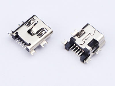 KLS1-229-5FE 5P B type R/A SMD Mini USB connector socket mid mount