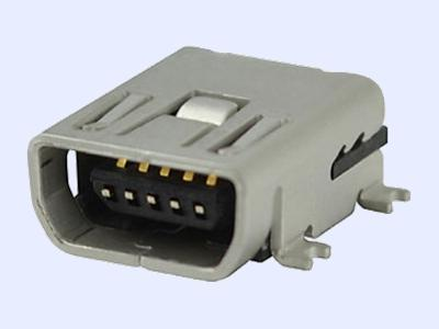 KLS1-229-6FB 5P AB type R/A SMD Mini USB connector socket