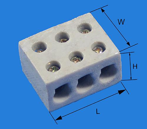 KLS2-CTB6 Ceramic terminal blocks