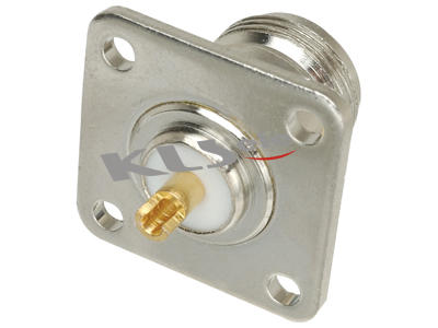 KLS1-N006 Flange Panel Mount N Connector (Jack,Female,50Ω)